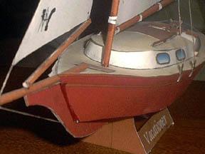 Maqueta 3D del velero Vacationer. Manualidades a Raudales.
